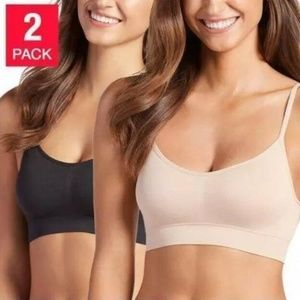 2-Pack Jockey Ladies Seamless Wire-Free Removable